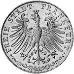 Taler Doppelgulden Frankfurt 1848 ss-vz