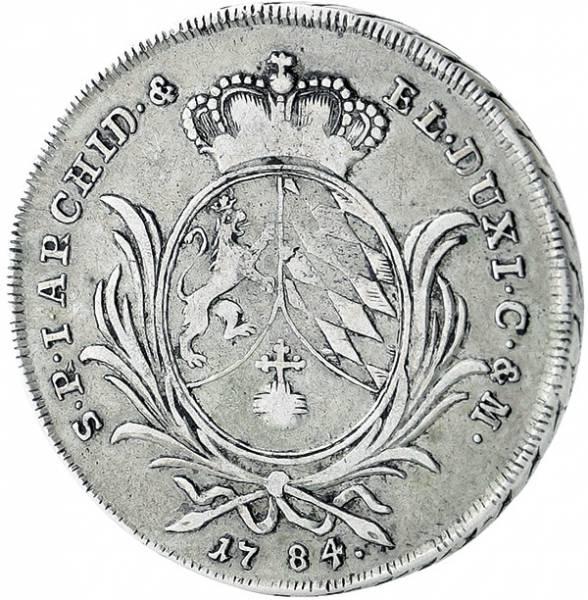 1/2 Konventionstaler Bayern Kurfürst Karl Theodor
