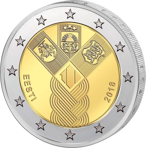 2 Euro Baltische Staaten Gemeinschaftsausgabe 100 Jahre Unabhängigkeit 2018