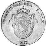 Kronentaler Großherzogtum Baden 1813-1814  Sehr schön