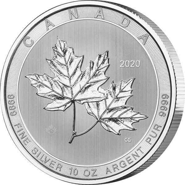 10 Unzen Silber Kanada Maple Leaf 2020