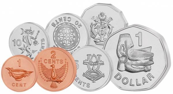 1 Cent - 1 Dollar Kursmünzensatz Salomonen 1987-2010
