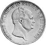 Doppeltaler Silber Friedrich Wilhelm IV. 1853-1856  ss-vz