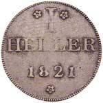 1 Heller Freie Reichsstadt Frankfurt 1820-1822 ss-vz
