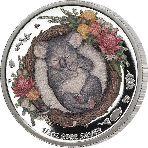 1/2 Unze Silber Australien Dreaming Down Under - Koala 2021