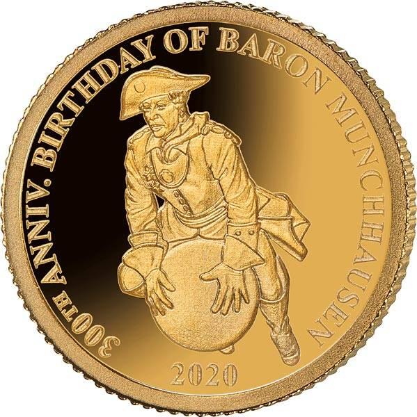 1 Dollar Samoa 300. Geburtstag Baron von Münchhausen 2020