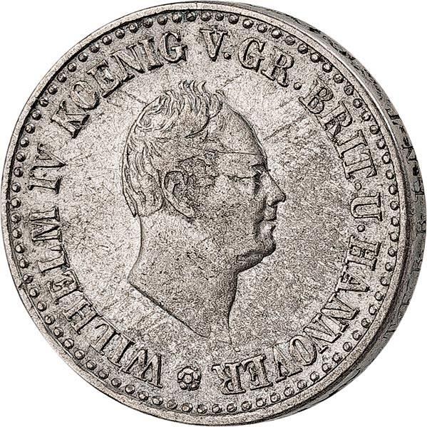 1/6 Taler Hannover König Wilhelm IV. 1834