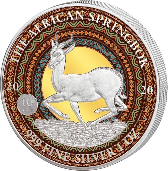 1.000 Francs Gabun Springbock 2020