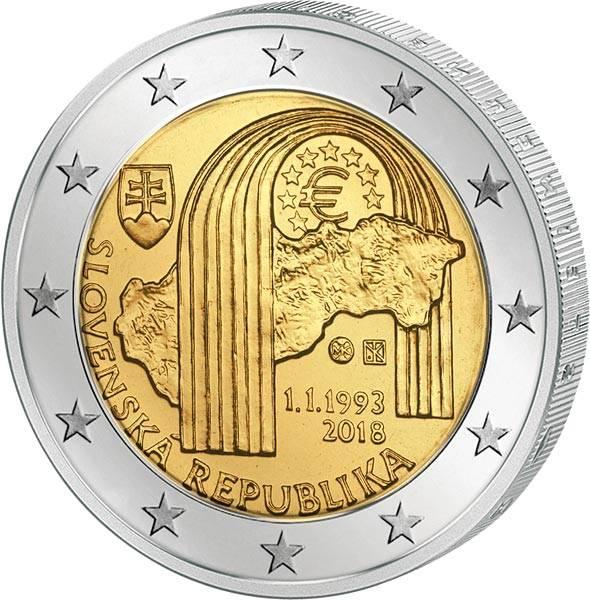 2 Euro Slowakei 25. Jahrestag der Republik 2018