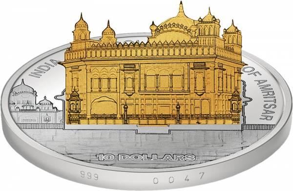 10 Dollars Cook-Inseln Indien Goldener Tempel 2013