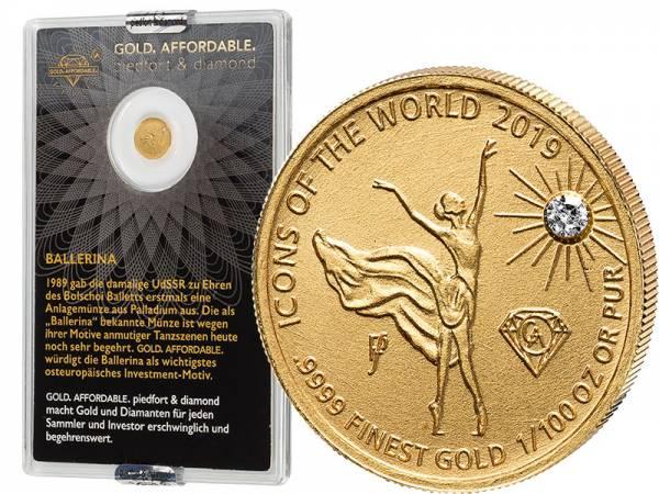 10 Francs Ruanda Gold Affordable Diamond Edition Ballerina 2019