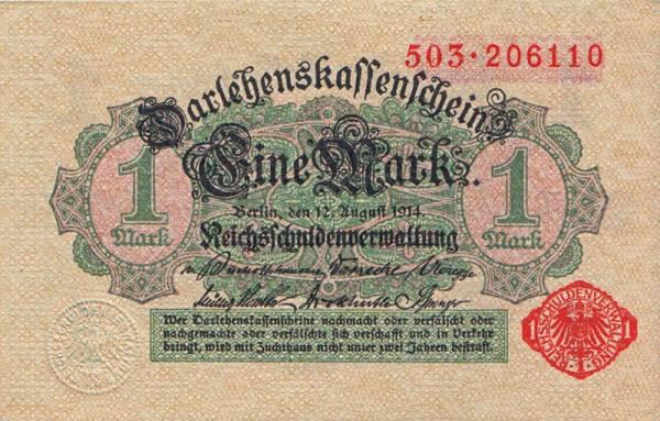 1 Mark Banknote Deutschland 1914