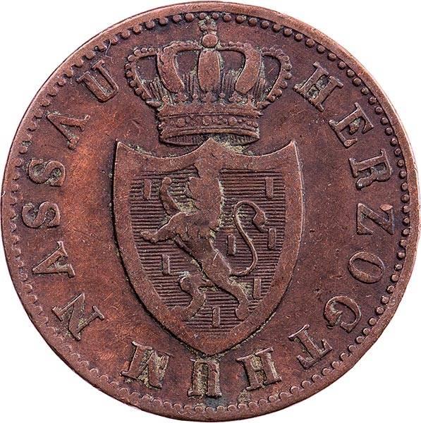 1 Kreuzer Nassau Herzog Wilhelm 1830-1838