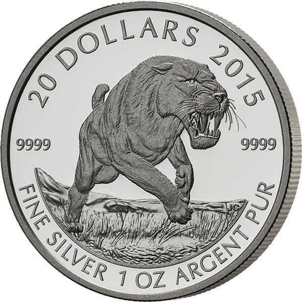 20 Dollars Kanada Säbelzahnkatze 2015 PP