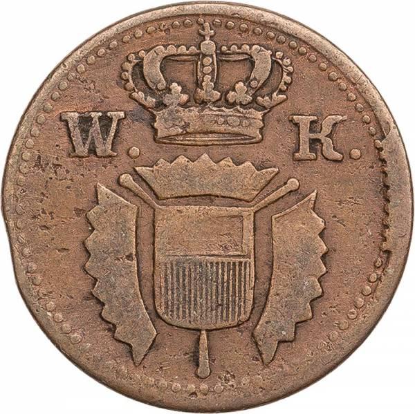 1 Guter Pfennig Hessen-Kassel Kurfürst Wilhelm II. 1816-1832