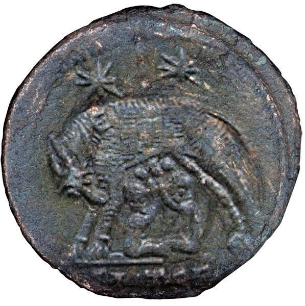 Mittelfollis Urbs Roma Romulus u. Remus Kaiser Constantinus I. 306-337 n. Chr. Sehr schön