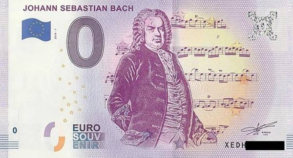 0-Euro-Banknote Johann Sebastian Bach 2018