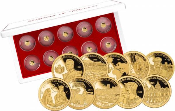 10 x 1.000 Francs Guinea Geschichte von Monaco 2020