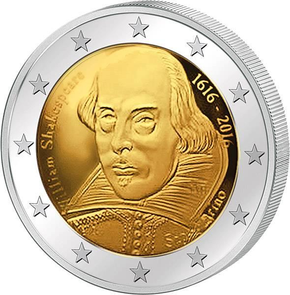 2 Euro San Marino 400. Todestag William Shakespeare