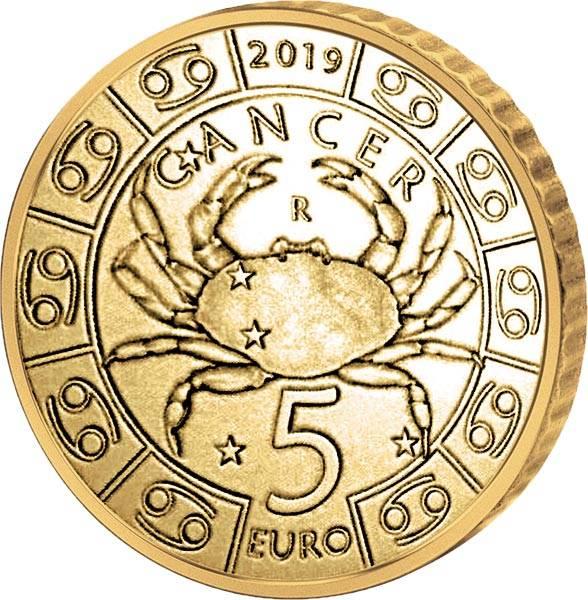 5 Euro San Marino Tierkreiszeichen Krebs 2019