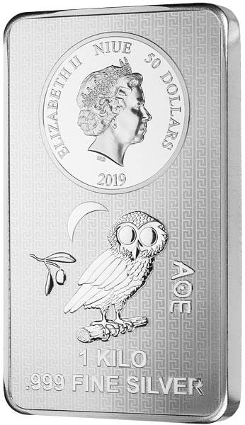 1 Kilo Silber Münzbarren Niue Eule 2019