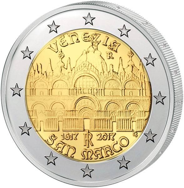 2 Euro Italien 400. Jahrestag der Fertigstellung der Basilica 2017
