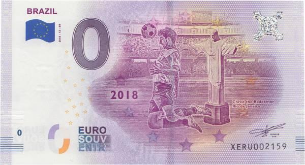 0-Euro-Banknote WM 2018 Brasilien 2018