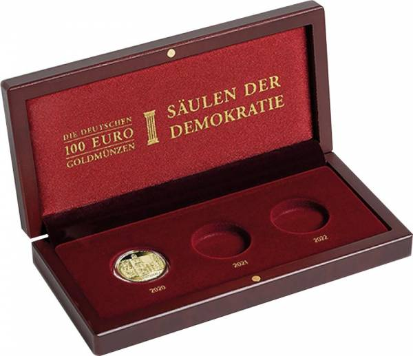 Münz-Etui für 3 x 100 Euro-Gedenkmünzen BRD Säulen der Demokratie 2020-2022