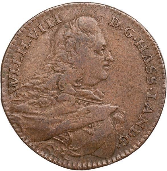 3 Heller Hessen-Kassel Landgraf Wilhelm VIII. 1755