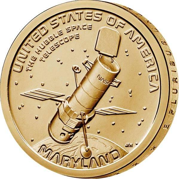1 Dollar USA American Innovation - Hubble Weltraumteleskop 2020