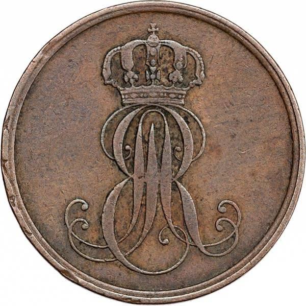 2 Pfennig Hannover König Ernst August 1845-1851