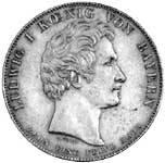 Geschichtstaler Ludwig I. Gerecht und Beharrlich 1831 vorzüglich