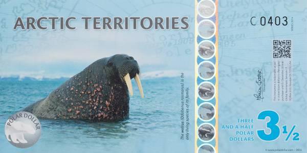 1 Dollar Antarktis Territories Walross
