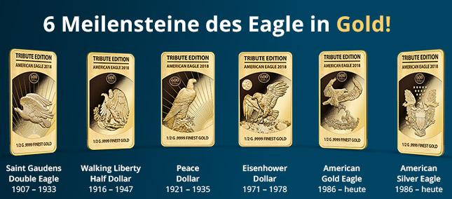 6 Meilensteine des Eagle in Gold!