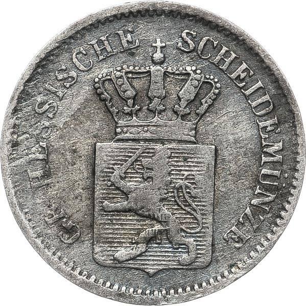 1 Kreuzer Hessen-Darmstadt Großherzog Ludwig III. 1858-1872