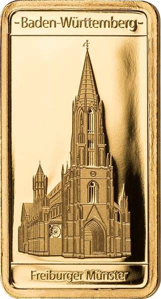 0,5 Gramm Goldbarren Baden-Württemberg Freiburger Münster