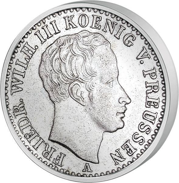 Taler 1/6 Preußen König Friedrich Wilhelm III. 1822-1840 Sehr schön