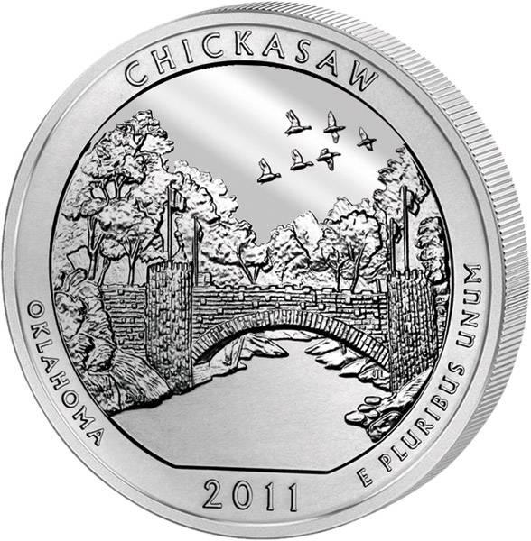 Quarter Dollar USA Oklahoma Chickasaw 2011 prägefrisch