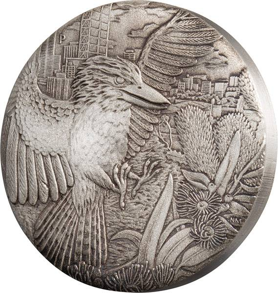 2 Unzen Silber Australien Kookaburra 2018