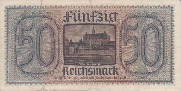 50 Reichsmark Deutsches Reich Reichskreditkassenschein 1939