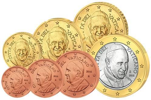 Euro-Kursmünzen Vatikan 2016