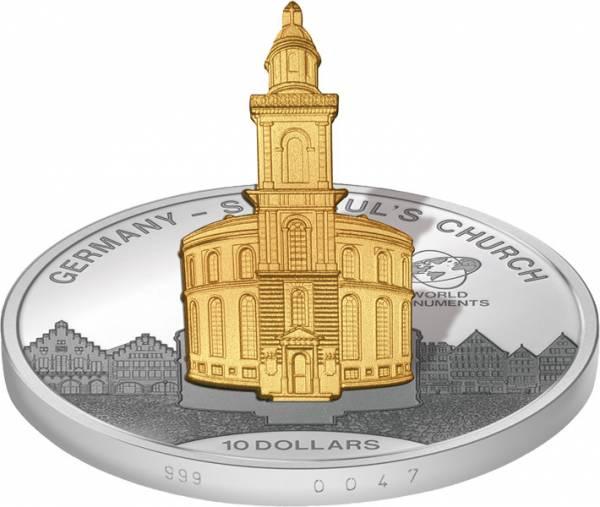 10 Dollars Cook-Inseln Deutschland Paulskirche 2015   Stempelglanz/Polierte Platte