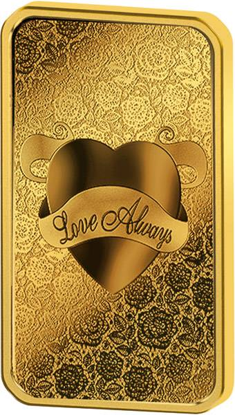 5 Gramm Goldbarren Love Always