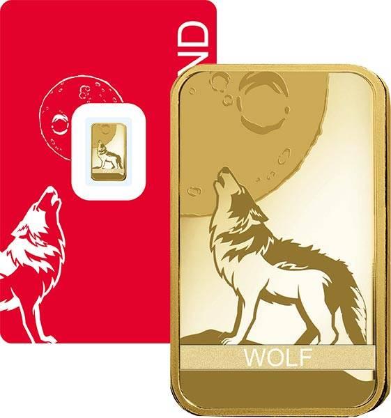 1 Gramm Goldbarren Schweiz Wolf