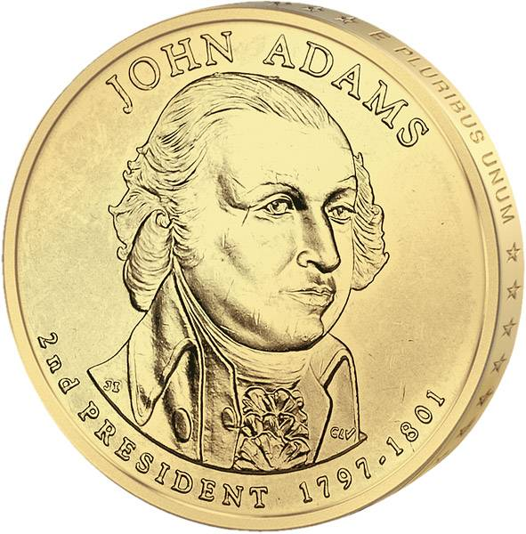 1 Dollar USA John Adams 2007 Stempelglanz