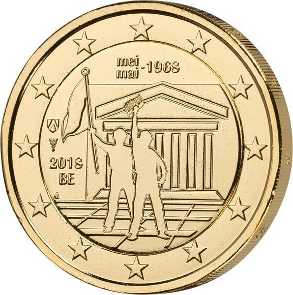 2 Euro Belgien 50 Jahre Maiaufstände 2018