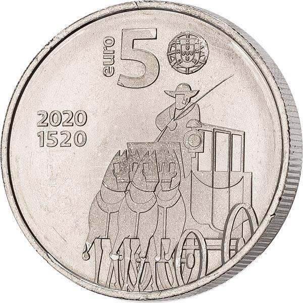 5 Euro Portugal 500 Jahre Portugiesische Post 2020