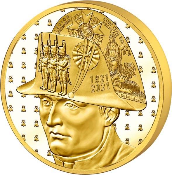 5 Euro Frankreich 200. Todestag Napoleon 2021 PP
