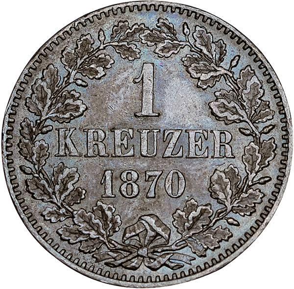 1 Kreuzer Baden Wappen