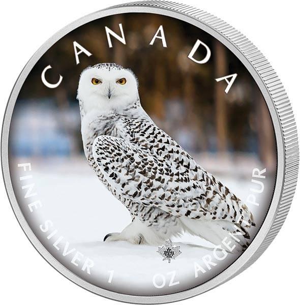 5 Dollars Kanada The Trails of Wildlife Schnee-Eule 2021